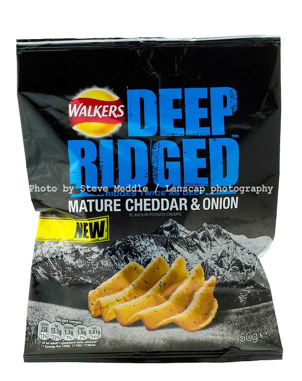 Bag of Walkers Deep Ridged Crisps - Jan 2014.