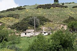 Subappennino Dauno, Foggia. Panorama sulla strada tra il paese di Sant'Agata e Accadia in provincia di Foggia
