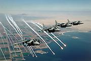 AV-8B Harriers pop anti-missile flares