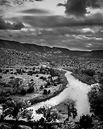 A very famous overlook of the Rio Chama River in New Mexico.