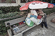 Homeless are everywhere in Athens