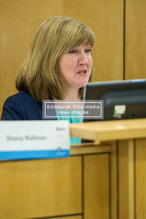 Pictured: Alison Johnstone, Greens<br /> <br /> Health spokemen and women participated in the BMA's Scotland health hustings tonight in Edinburgh. Among those attending were Shona Robison, Jenny Marra, Jim Hume, Alison Johnstone and Jackson Carlaw. Staff from all levels in the NHS took the opportunity to challenge the health spokepersons on what they would do if elected in the General Election next month<br /> <br /> Ger Harley | EEm 23 March 2016