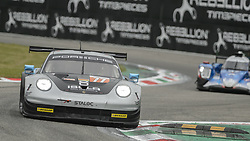May 11, 2019 - Monza, MB, Italy - DEMPSEY-PROTON RACING (Pera, Cairoli and Ried) at fast Ascari chicane during Free Practice Session 2 in Monza for the ELMS italian round. (Credit Image: © Riccardo Righetti/ZUMA Wire)