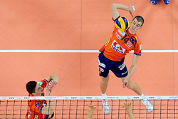 Milan Rasic of ACH during volleyball match between ACH Volley (SLO) and Jastrzebski Wegiel (POL) in 6th Round of 2011 CEV Champions League, on January 12, 2011 in Arena Stozice, Ljubljana, Slovenia. (Photo By Vid Ponikvar / Sportida.com)