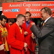 Finale Amstelcup amateurs 2004, VV Sneek - Ter Leede, Ter Leede kampioen, medaille