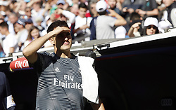 March 16, 2019 - Madrid, Madrid, Spain - Real Madrid CF's Sergio Reguilon aeen before the Spanish La Liga match round 28 between Real Madrid and RC Celta Vigo at the Santiago Bernabeu Stadium in Madrid. (Credit Image: © Manu Reino/SOPA Images via ZUMA Wire)