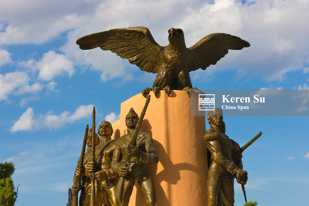 Statue in Independence Plaza, Merida, Yucatan State, Mexico