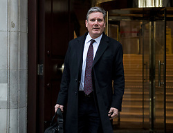 © Licensed to London News Pictures. 05/01/2021. London, UK. Labour party leader KEIR STARMER leaves Milbank Studio in Westminster following media interviews, on the day that England is placed under a third national lockdown. Photo credit: Ben Cawthra/LNP