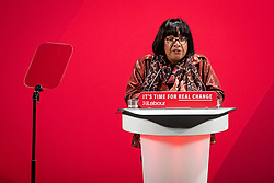 © Licensed to London News Pictures. 26/11/2019. London, UK. Shadow Home Secretary Diane Abbott speaks at the launch of the Labour Party's new Race and Faith manifesto at an event in Tottenham Green, North London. Photo credit: Rob Pinney/LNP
