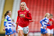 Manchester United defender Millie Turner (21) during the FA Women's Super League match between Manchester United Women and Reading LFC at Leigh Sports Village, Leigh, United Kingdom on 7 February 2021.