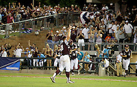 Texas A&M's Jace Vines (38) reacts after striking out the final batter of 7-1 win over TCU in a NCAA college baseball Super Regional tournament game, Saturday, June 11, 2016, in College Station, Texas. (AP Photo/Sam Craft)