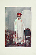 Brahman man from Typical Pictures of Indian Natives Being reproduction from Specially prepared hand-colored photographs. By F. M. Coleman (Times of India) Seventh Edition Bombay 1902