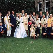 Huwelijk zoon Henk Wijngaard, familiefoto