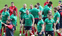 British & Irish Lions Ken Owens (centre) during the captain's run at the QBE Stadium, Auckland.