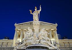 15.12.2010, Innere Stadt, Wien, AUT,  Wien Feature, im Bild Statue Pallas Athene vor dem Parlament im ersten Wiener Gemeindebezirk// EXPA Pictures © 2010, PhotoCredit: EXPA/ M. Gruber