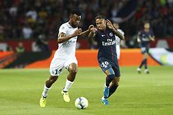 August 25, 2017 - France - MAIGA Habib (St Etienne) vs Neymar Jr  (Credit Image: © Panoramic via ZUMA Press)