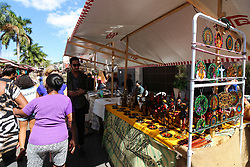 September 2, 2017 - Rio De Janeiro, Rio de Janeiro, Brazil - Hundreds of collectors of antiques, artisans and artists exhibit their products in tents along Rua do Lavradio, one of the oldest streets in the center of Rio de Janeiro, Brazil, on 2 September 2017. people take advantage of the cultural program for shopping and also to enjoy the gastronomy of the restaurants of the region of Lapa, where the fair happens. (Credit Image: © Luiz Souza/NurPhoto via ZUMA Press)