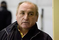 Head coach of Slavija Zdravko Bobnaric at SLOHOKEJ league ice hockey match between HK Slavija and HK Triglav Kranj, on February 3, 2010 in Arena Zalog, Ljubljana, Slovenia. Triglaw won 4:1. (Photo by Vid Ponikvar / Sportida)