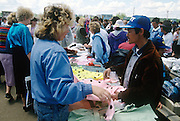 Illegal Chinese vendors sell cheap goods in an open air market to Russian consumers in Khabarovsk, Russia.