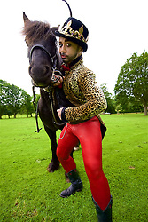 Lucy Jane Parkinson - AKA award-winning drag king LoUis CYfer on horseback as Joan of Arc. JOAN is a lyrical and poetic performance that combines theatre, new writing and cabaret as Joan of Arc invades Edinburgh as part of Underbelly Untapped. The Meadows, Edinburgh, (c) Brian Anderson | Edinburgh Elite media