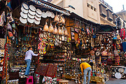 The Khan El-Khalili souq/bazaar, El-Gamaleya, Cairo Governate, Egypt.