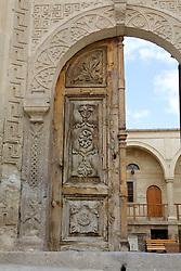 Beautiful Old Wooden Door, Town Of Sinasos
