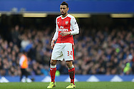 Francis Coquelin of Arsenal looking on. Premier league match, Chelsea v Arsenal at Stamford Bridge in London on Saturday 4th February 2017.<br /> pic by John Patrick Fletcher, Andrew Orchard sports photography.