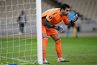 ATHENS, GREECE - OCTOBER 29: Panagiotis Tsintotasof AEK Athens during the UEFA Europa League Group G stage match between AEK Athens and Leicester City at Athens Olympic Stadium on October 29, 2020 in Athens, Greece. (Photo by MB Media)