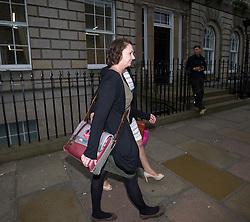 Pauline Cafferkey leaves the Nursing and Midwifery Council hearing in Edinburgh.