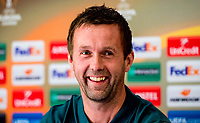 30/09/15<br /> CELTIC PARK - GLASGOW<br /> Celtic manager Ronny Deila speaks to the press ahead of his side's UEFA Europa League match with Fenerbache.
