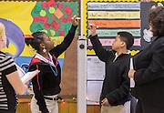 Sixth grade APOLLO students at Fondren Middle School, December 13, 2012, in Houston.