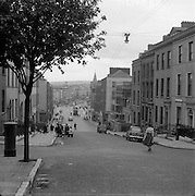 01/02/1957<br /> 02/01/1957<br /> 01 February 1957<br /> Patricks Bridge and Patrick's street from Patrick's Hill, Cork City.