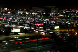Cars leave Lincoln Financial Field after the Philadelphia Eagles NFL Flight Night at Lincoln Financial Field in Philadelphia, Pennsylvania on Sunday August 2nd 2009. (Photo by Brian Garfinkel)