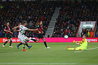 Football - 2017 / 2018 EFL Carabao (League) Cup - Fourth Round : AFC Bournemouth vs. Norwich City<br /> <br /> Dennis Srbeny of Norwich City gets a shot on goal saved by Bournemouth's Artur Boruc at the Vitality Stadium (Dean Court) Bournemouth <br /> <br /> COLORSPORT/SHAUN BOGGUST