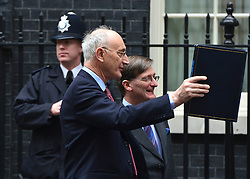 © Licensed to London News Pictures. 23/10/2012. Westminster, UK (L_R)  Chief Whip Sir George Young, Attorney General Dominic Grieve.  Ministers attend a Cabinet Meeting in 10 Downing Street today 23 October 2012. Photo credit : Stephen Simpson/LNP