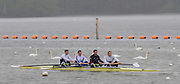 Caversham, Great Britain,  GBM4-, left to right Tom JAMES, Steve WILLIAMS, Peter REED and Andy TRIGGS HODGE, GB Rowing media day at the Redgrave Pinsent Rowing Lake. GB Rowing Training centre. Wed. 20.04.2008  [Mandatory Credit. Peter Spurrier/Intersport Images] Rowing course: GB Rowing Training Complex, Redgrave Pinsent Lake, Caversham, Reading