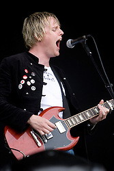 Lead singer Colin Fraser of the Jyrojets opening on the main stage. Rockness, Sunday 8th June 2008..Pic © Michael Schofield. All Rights Reserved.