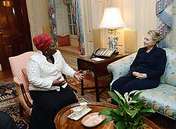Nov. 28, 2012 - Washington, DC, USA - US Secretary of State Hillary Rodham Clinton meets with African Union Chairperson Nkosazana Dlamini-Zuma at the US Department of State November 28, 2012 in Washington, DC. (Credit Image: © Us State Department/Planet Pix via ZUMA Wire)