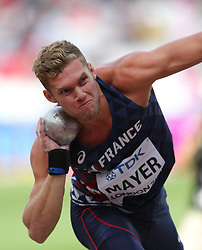 Kevin Mayer competes on Men's Shot Put Decathlon during the Athletics World Championships 2017, at Olympic Stadium, in London, United Kingdom, Day 5, on August 8th, 2017. Photo by Bevilacqua Giuliano/ABACAPRESS.COM