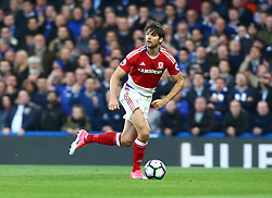 May 8, 2017 - London, England, United Kingdom - George Friend of Middlesbrough during Premier League match between Chelsea and Middlesbrough at Stamford Bridge, London, England on 08 May 2017. (Credit Image: © Kieran Galvin/NurPhoto via ZUMA Press)