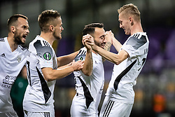 Players of NS Mura celebrating during football match between NS Mura and Rennes (FRA) in group stage of UEFA Europa Conference League 2021/22, on 20 of October, 2021 in Ljudski Vrt, Maribor, Slovenia. Photo by Blaž Weindorfer / Sportida