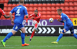 Charlton Athletic's Ricky Holmes shoots for goal