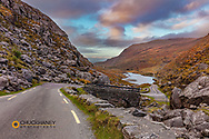 Narrow roadway over stone bridge at the Gap of Dunloe near Killarney, Ireland