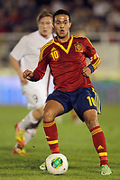 Spain's Thiago Alcantara during international sub21 match.March 21,2013. (ALTERPHOTOS/Acero)