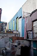 Tijuana 2015.<br /> The last house of Latin America. Rooms are made with recycled materials.<br /> <br /> Scale che conducono al tetto dove si trovano le ultime stanze.