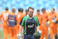 ICC World Twenty20 Qualifier UAE 2012.Ireland take on the Netherlands in the preliminary final at the Dubai International Cricket Stadium, Dubai,.Pic shows.