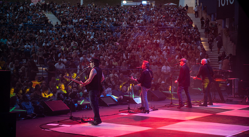 Blue Oyster Cult performing at Pacific Amphitheatre August 11, 2021. (Photo by Miguel Vasconcellos, OC Fair & Event Center)