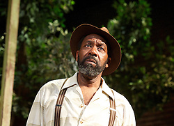 Fences<br /> by August Wilson <br /> Theatre Royal Bath Production <br /> at The Duchess Theatre, London, Great Britain <br /> 21st June 2013 <br /> Press photocall<br /> <br /> Lenny Henry as Troy Maxson<br /> <br /> Colin McFarlane as Jim Bono <br /> <br /> Ako Mitchell as Gabriel<br /> <br /> Tanya Moodie as Rose<br /> <br /> Peter Bankole as Lyons<br /> <br /> Ashley Zhangazha as Cory <br /> <br /> Photograph by Elliott Franks