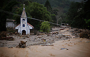 Remaining of a church is seen after a landslide in Teresopolis, Brazil, Thursday, Jan. 13, 2011. <br /> <br /> A series of flash floods and mudslides struck several cities in Rio de Janeiro State, destroying houses, roads and more. More than 900 people are reported to have been killed and over 300 remain missing in this, Brazil's worst-ever natural disaster.