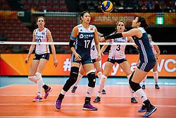 16-10-2018 JPN: World Championship Volleyball Women day 17, Nagoya<br /> Netherlands - China 1-3 / (L-R) Ni Yan #17 of China, Xia Ding #16 of China
